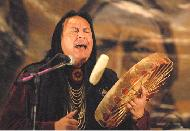Grammy Winner Bill Miller plays Native American drum from The Drum People